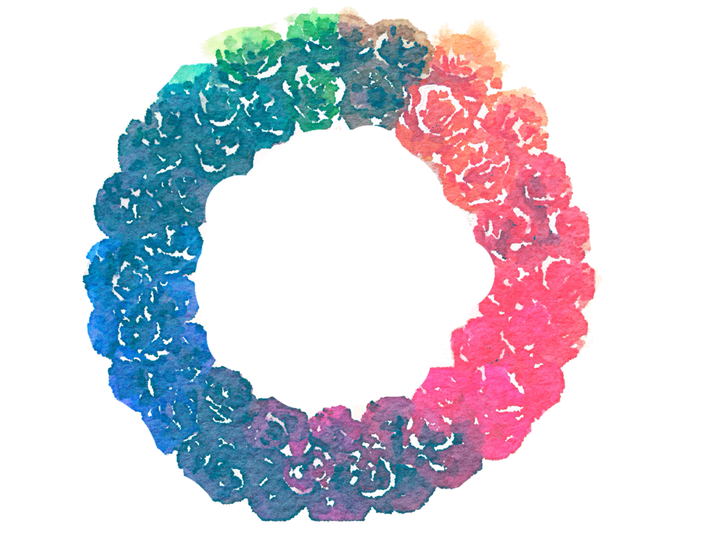 Circle clipart watercolor. Free rainbow wreath png