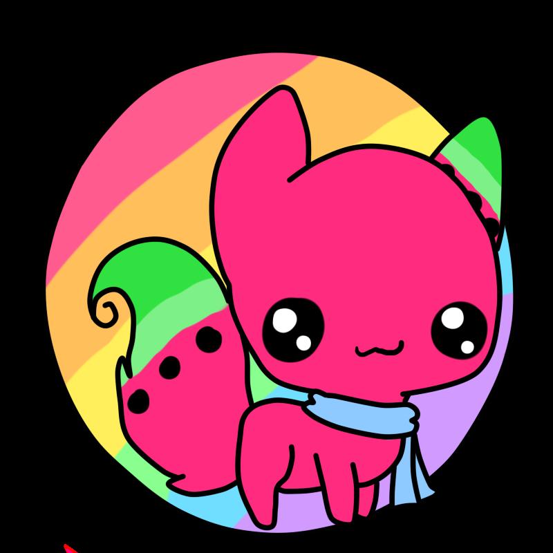 Watermelon clipart chibi. Circle icon by snowdrop