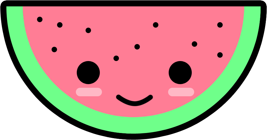 Watermelon clipart chibi. Wally the by deviantfruits
