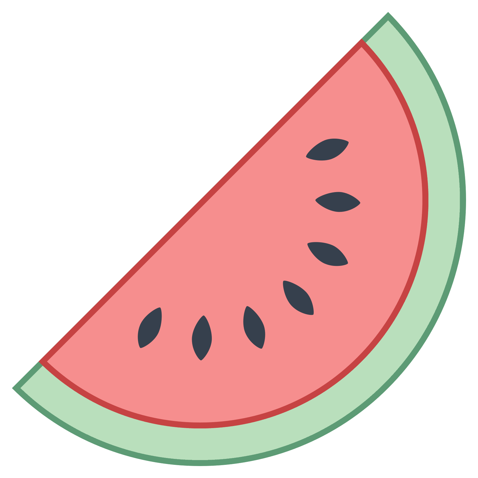 Watermelon clipart smiling watermelon.  png icon there