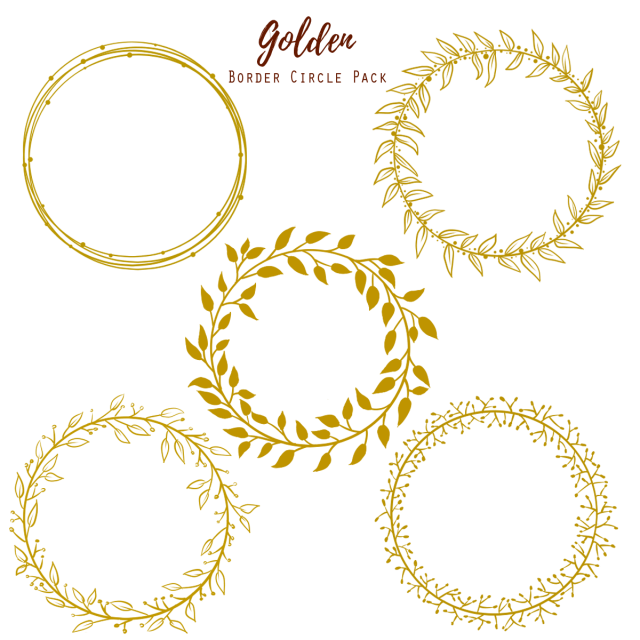 Golden circle gold png. Clipart wedding frame