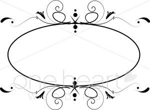 Clipart wedding circle. Monogram borders