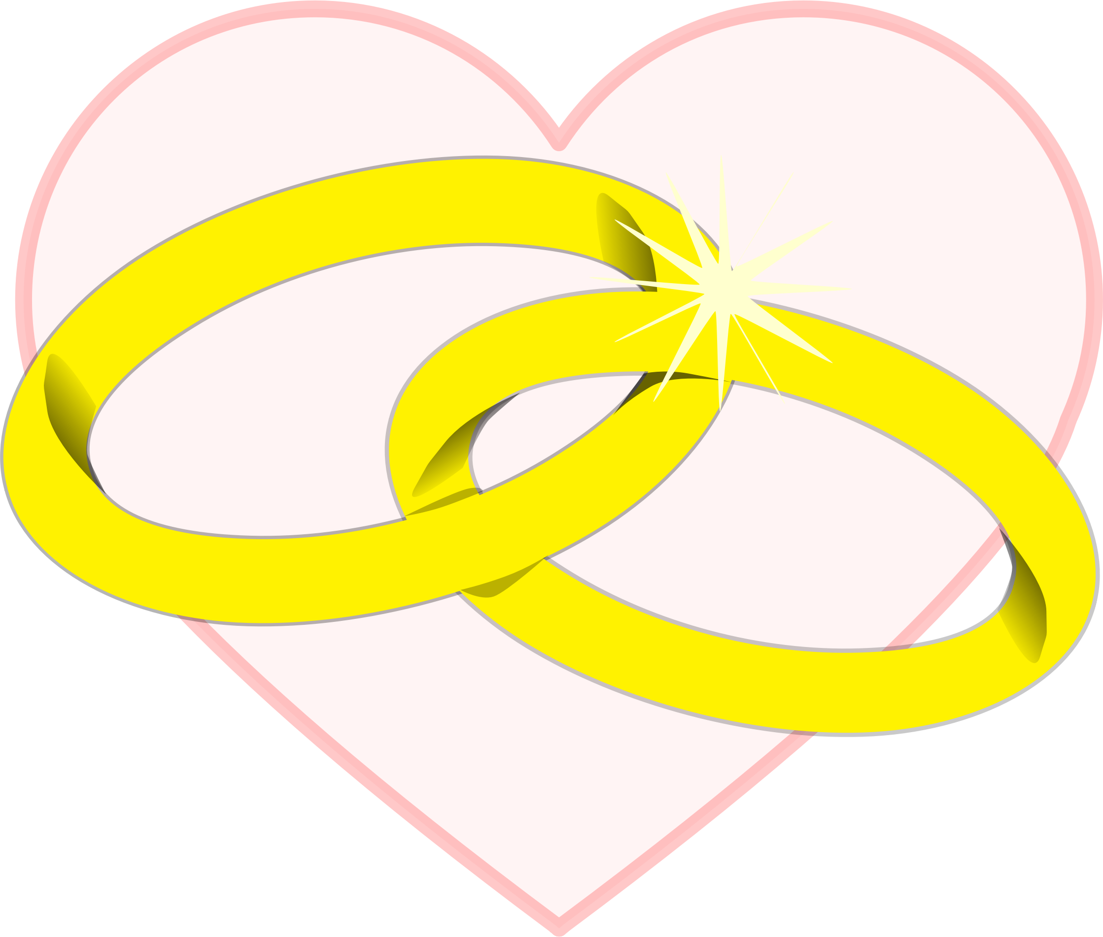 Clipart wedding yellow. Rings big image png