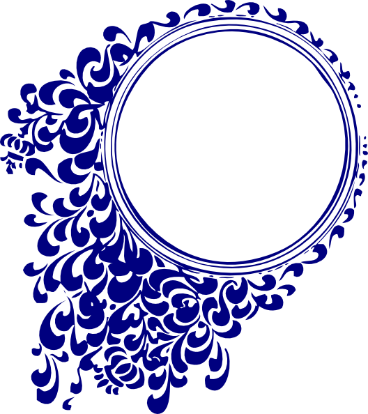 Royal blue scroll clip. Clipart wedding frame