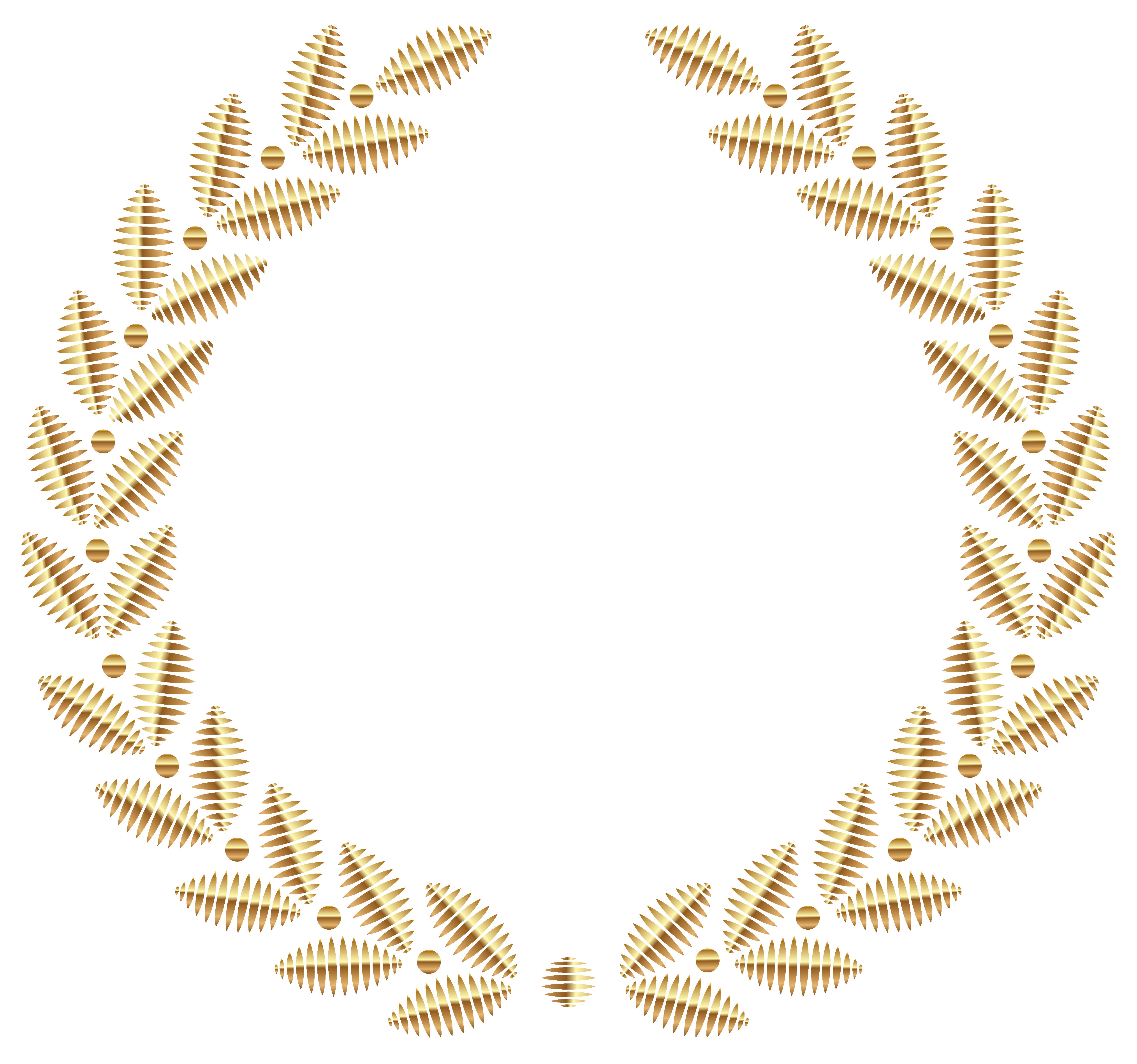 Clipart borders wheat. Golden wreath png transparent