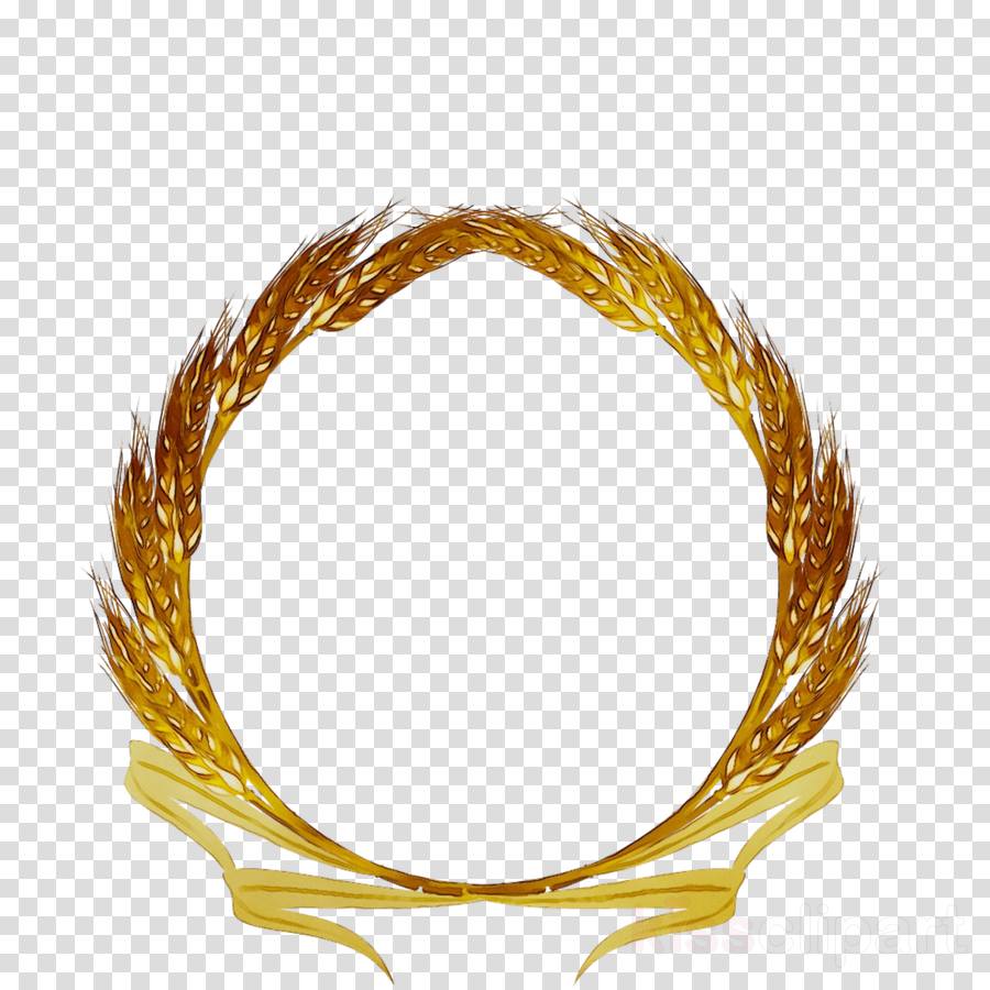 Gold yellow transparent . Wheat clipart circle