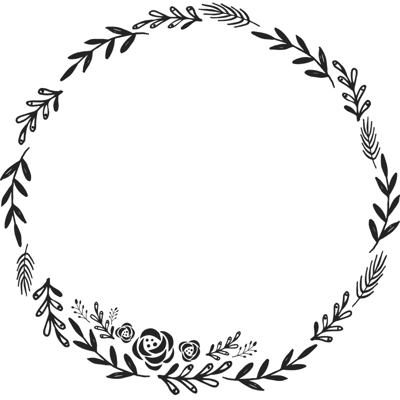 Circle clipart wreath. Floral rubber stamp border