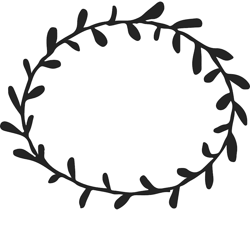 Circle clipart wreath. Simple rubber stamp border