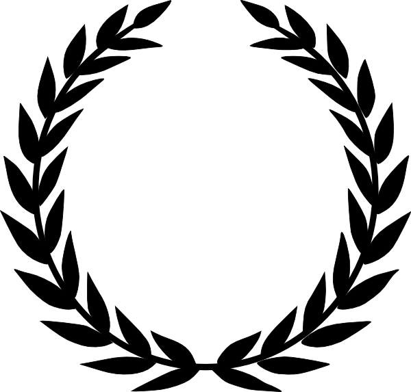 A laurel is circular. Circle clipart wreath