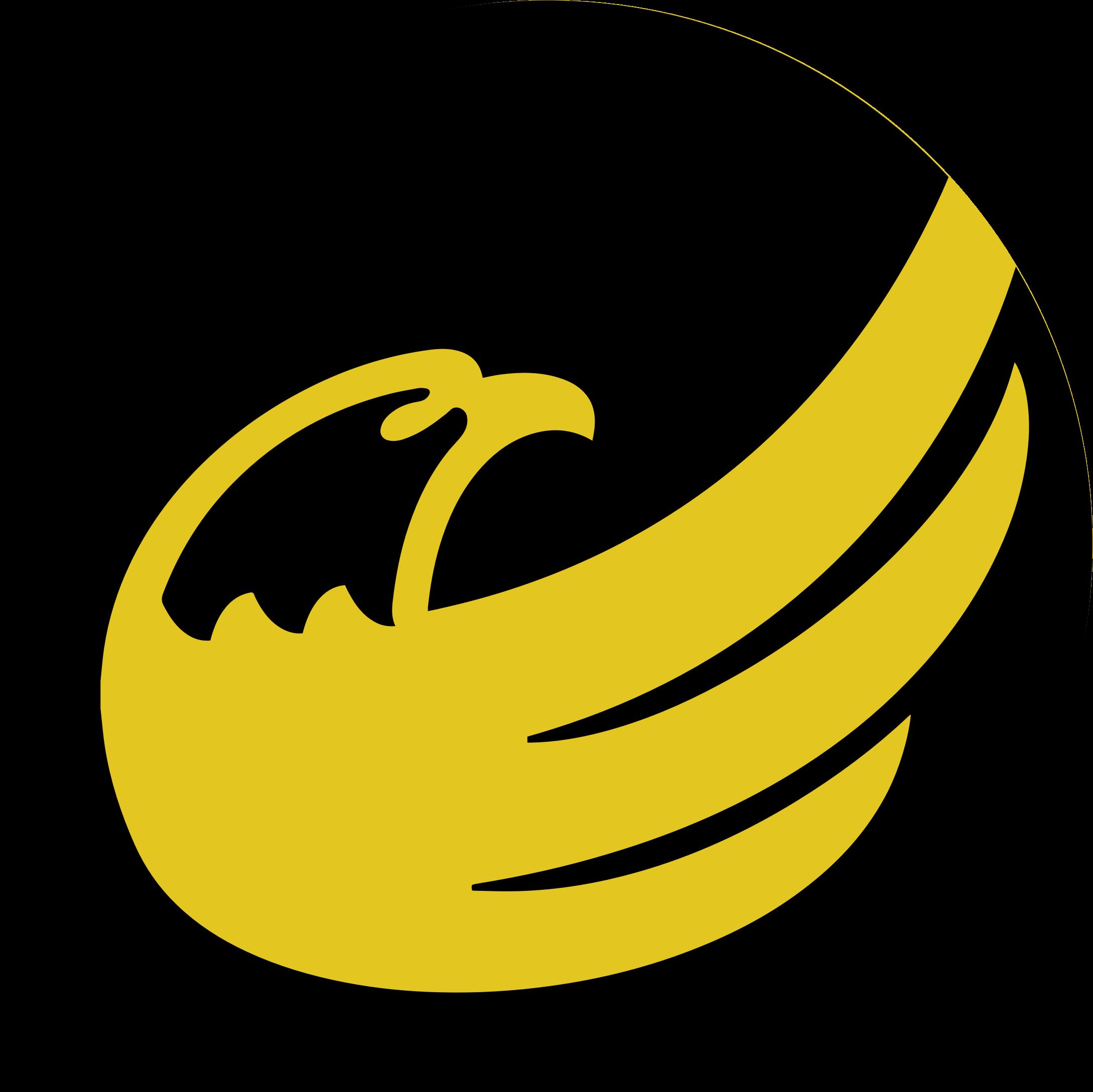 Logo libertarian eagle remix. Circle clipart yellow