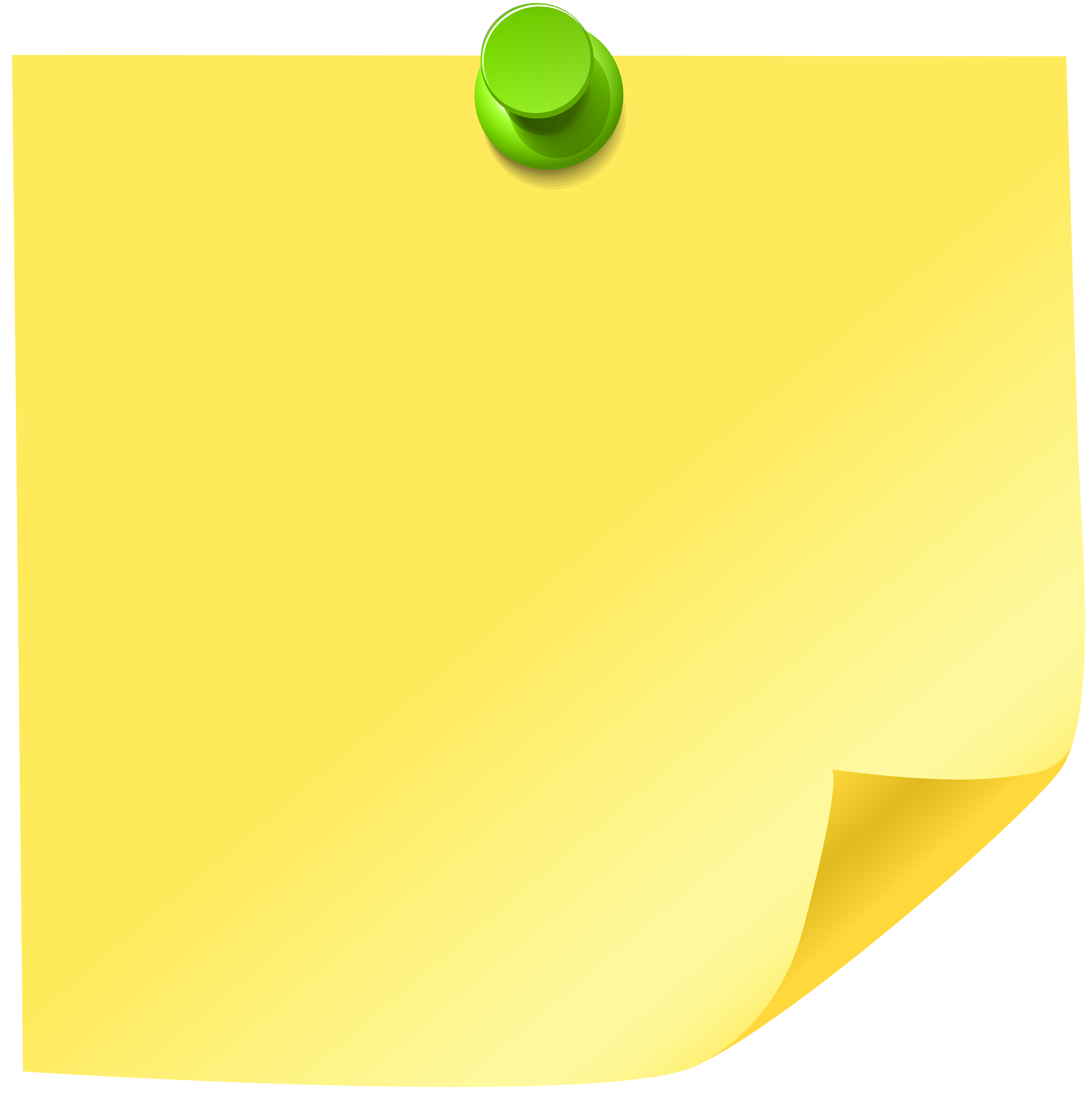 Sticky note png clip. Circle clipart yellow