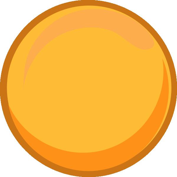 Gold clip art at. Circle clipart yellow