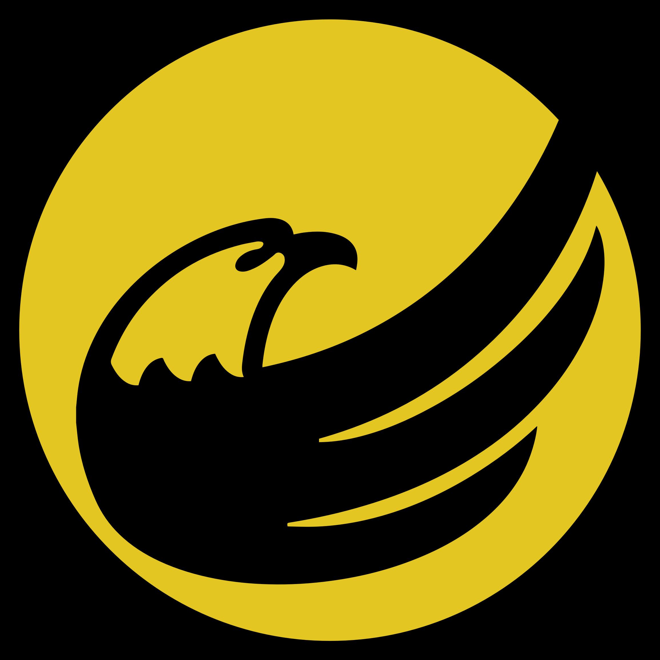 Circle clipart yellow. Logo libertarian eagle remix