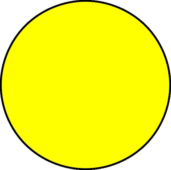 Circle clipart yellow. Clip art at clker