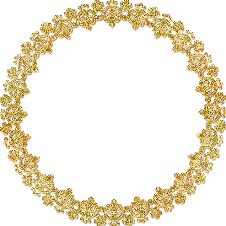 Golden round hd mart. Circle frame png