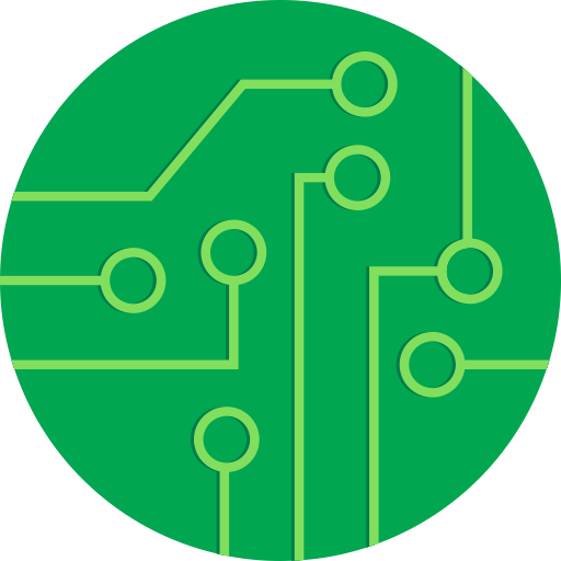 Rounded icon free of. Circuit board vector png