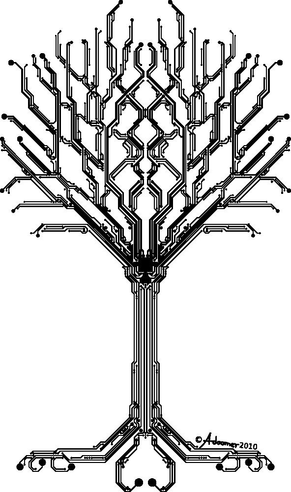 Circuit board vector png. Tree of digital life