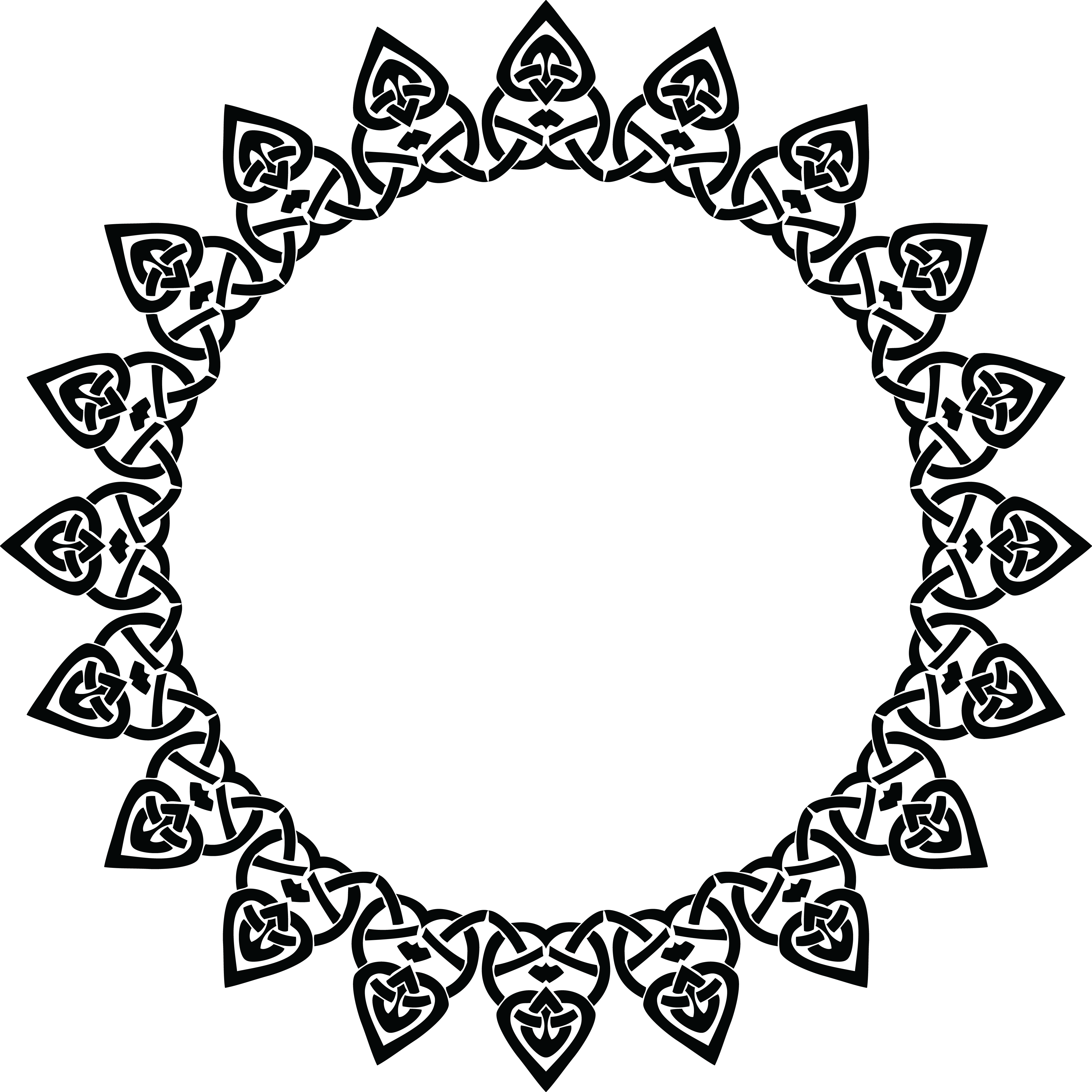 Collection of free doyly. Circular border png