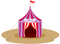 Circus clipart. Free clip art pictures