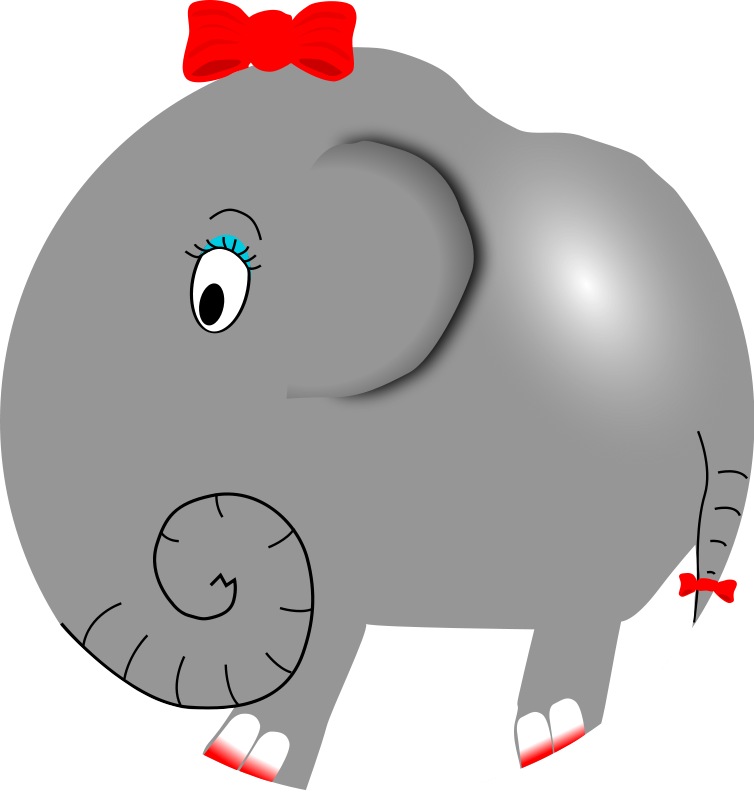 Free and animations girl. Clipart elephant graduation