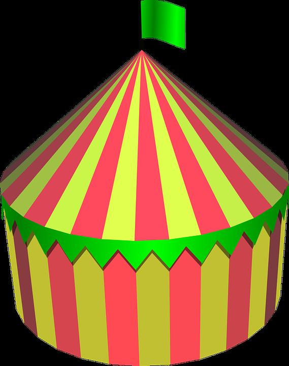 Circus yard and photos. Clipart tent pink tent