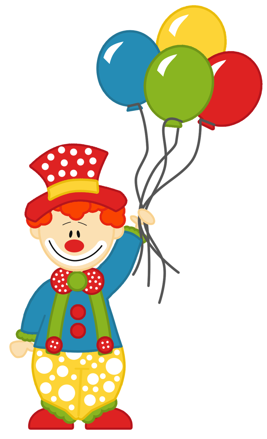 clipart balloon clown #62098873