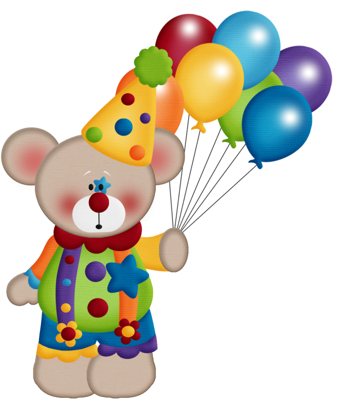Clipart balloon circus. Aw bear png bears