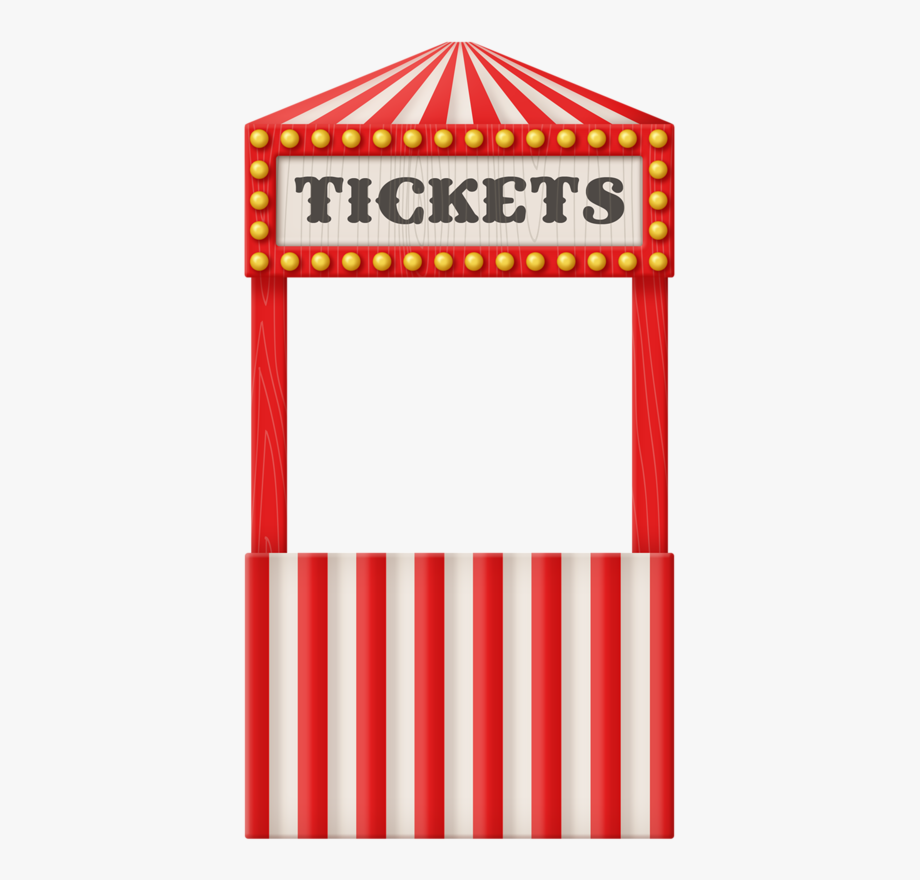 circus free. Raffle clipart ticket booth