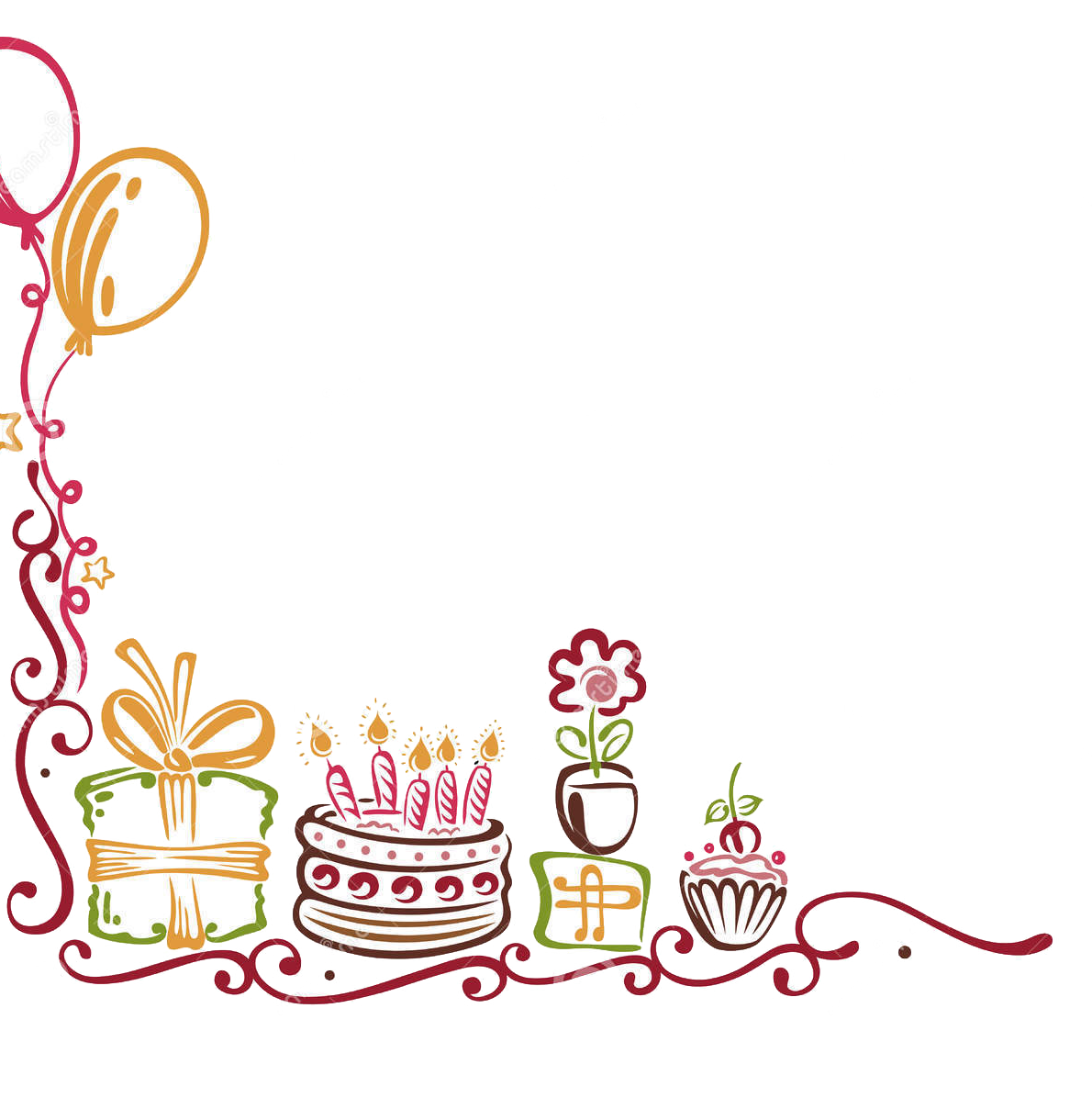 Birthday border png. Google search clipart pinterest