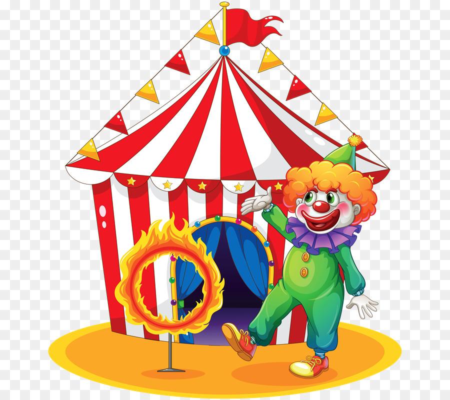 Circus clipart cirque. Party hat cartoon clown
