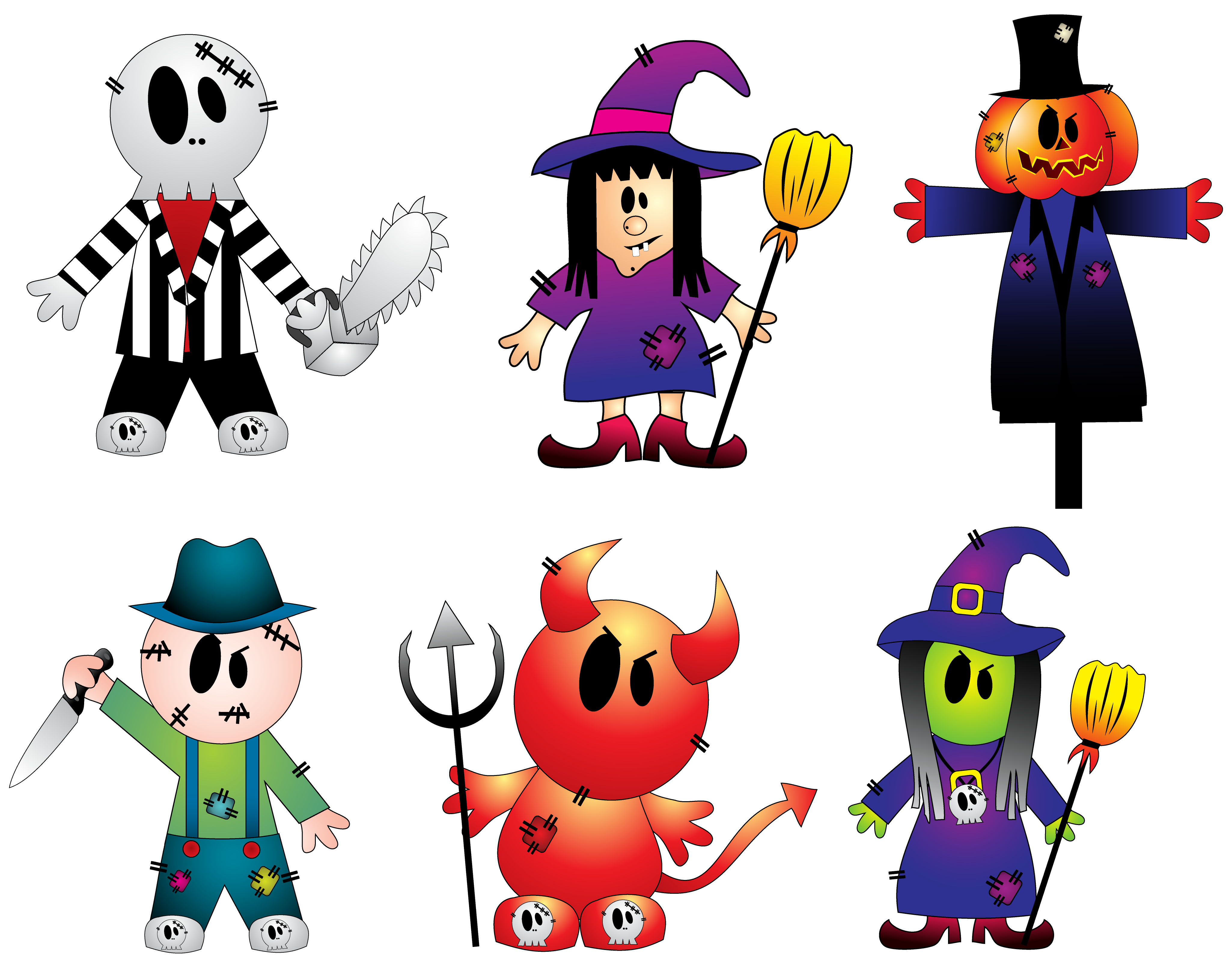 collection of creepy. Ghost clipart character