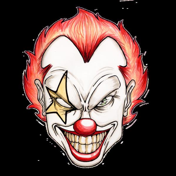 Deranged twisted psychotic lunatic. Lips clipart clown