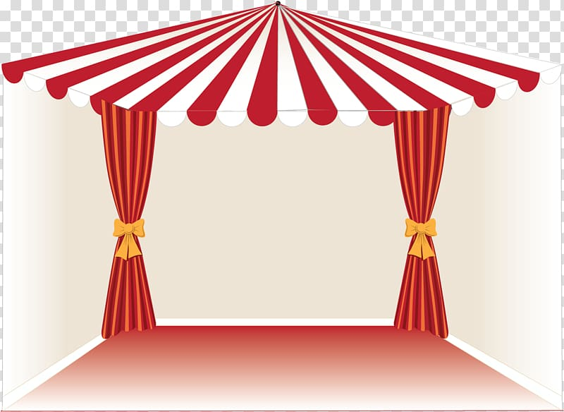Tent drawing mural transparent. Curtains clipart circus