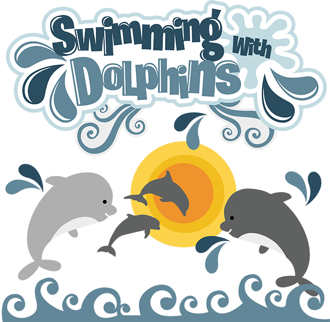 Words clipart swimming. Dolphin swim with pencil