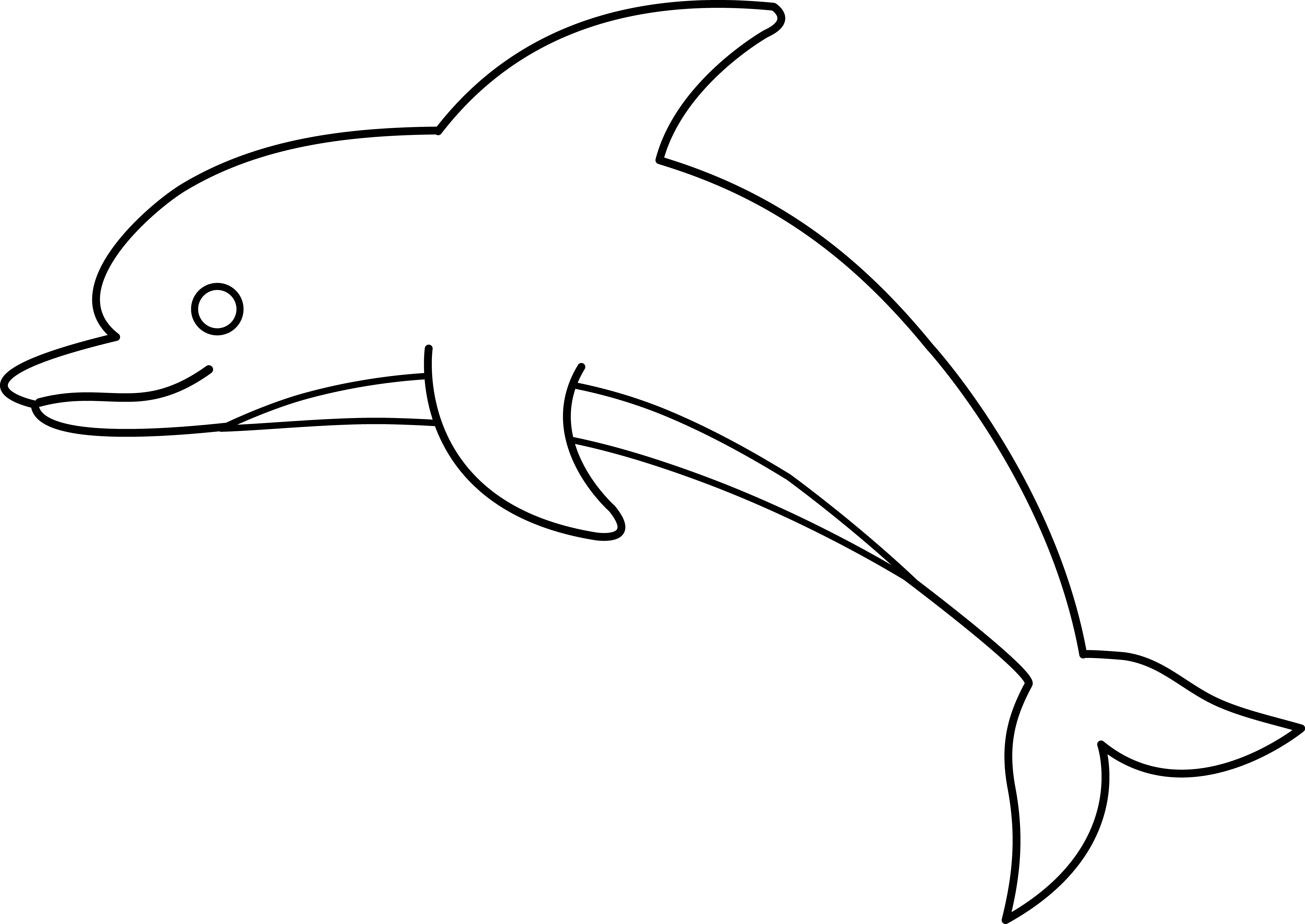 Dolphins clipart realistic. Jumping dolphin outline czgrdgce