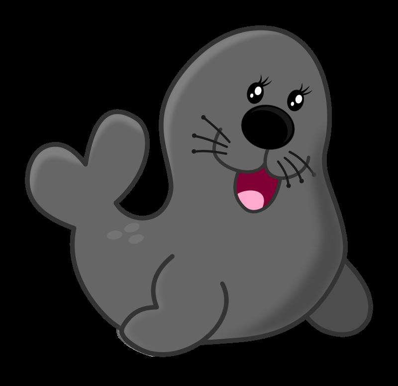 Seal by maw acuario. Manatee clipart baby manatee
