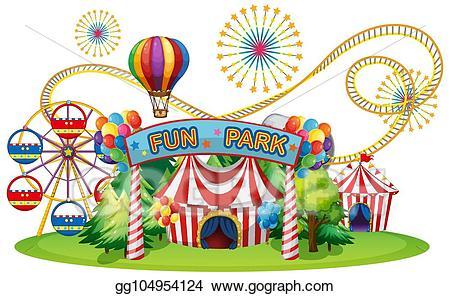 Fair clipart funfair. Vector stock a circus
