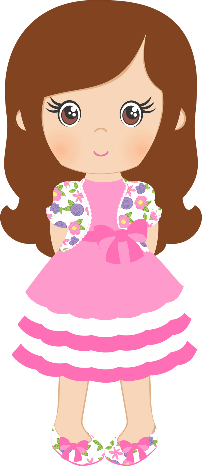 Girls clipart dress. Spring shabby chic png