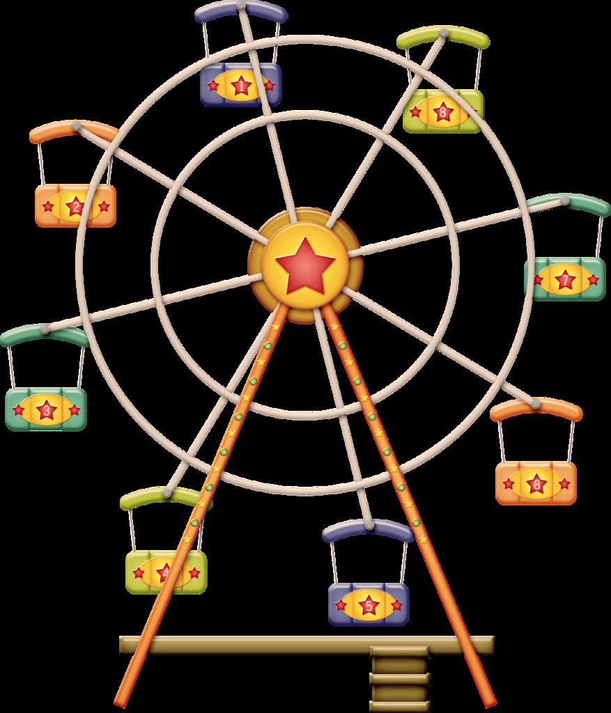 Zgl threeringcircus ferriswheel png. Wheel clipart circus