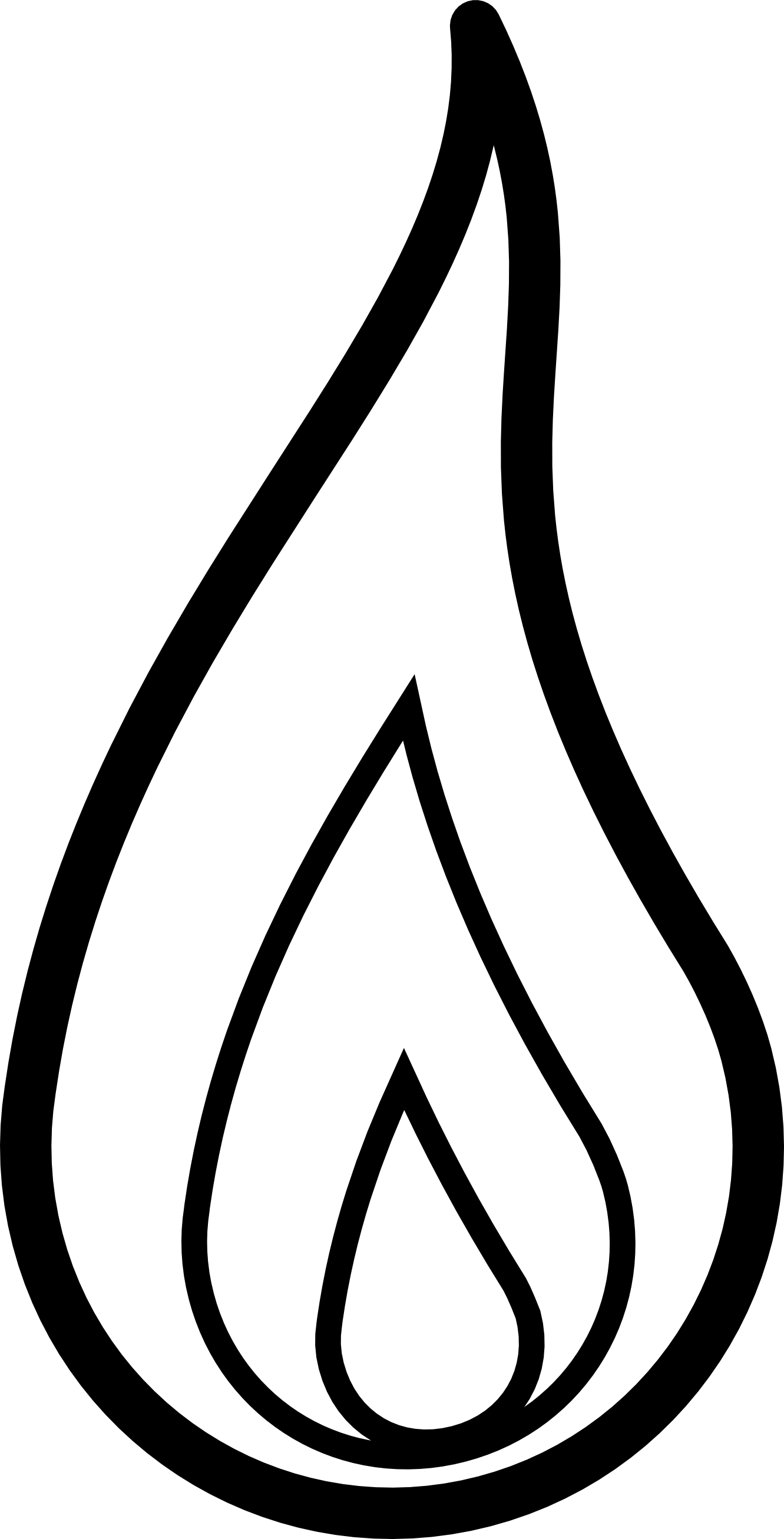 Fire clipart simple. Flames black and white