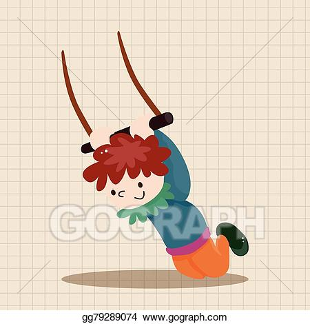 Vector stock theme elements. Circus clipart flying trapeze