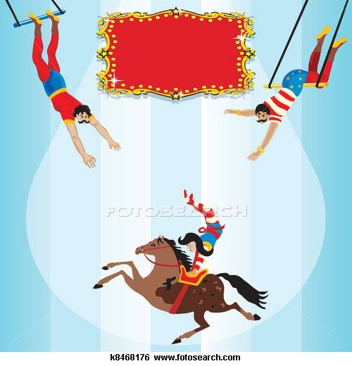 Circus clipart flying trapeze. Birthday clip art