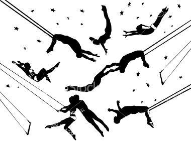 Acrobats tattoos possibilities . Circus clipart flying trapeze