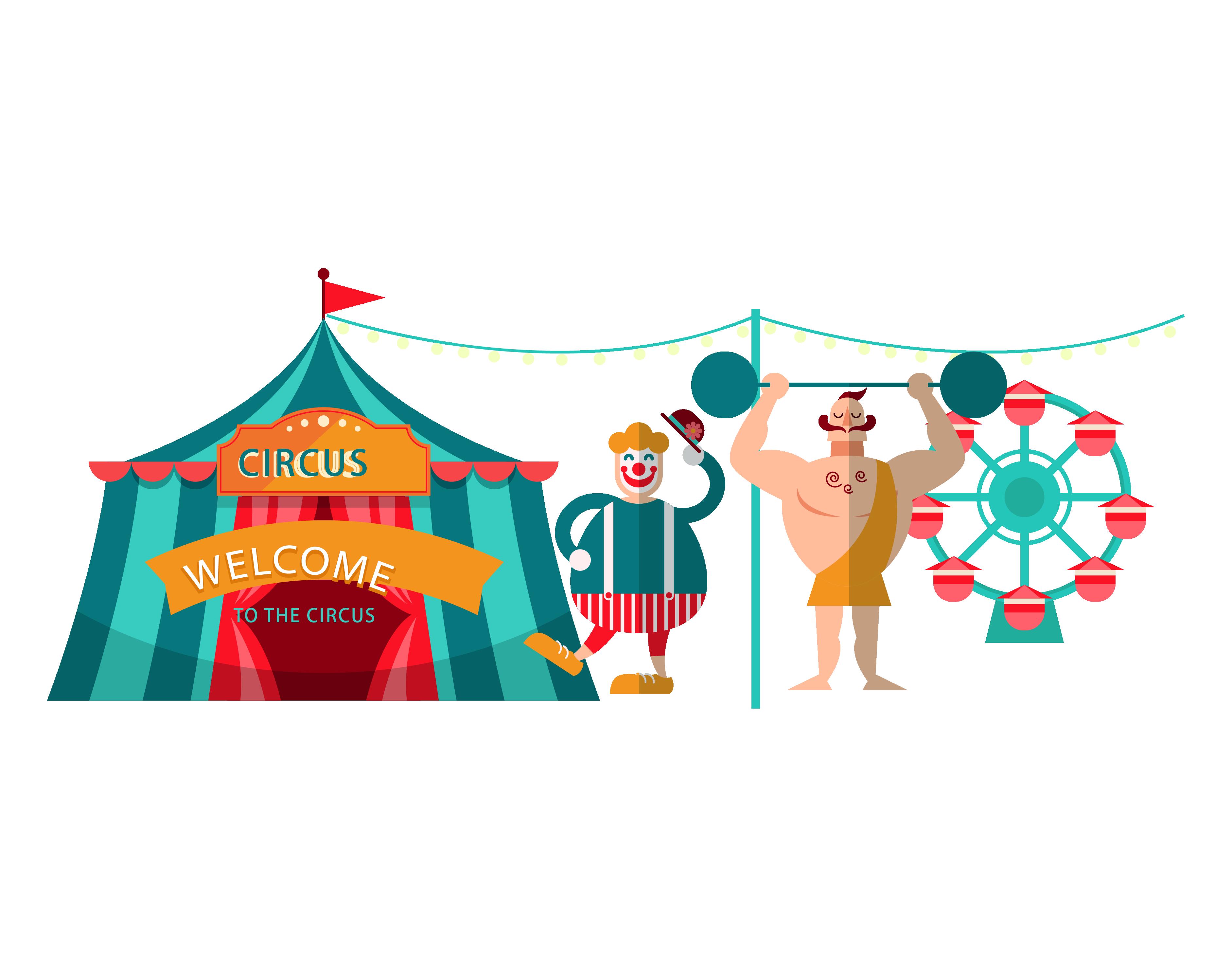 Circus download adobe illustrator. Clown clipart acrobat
