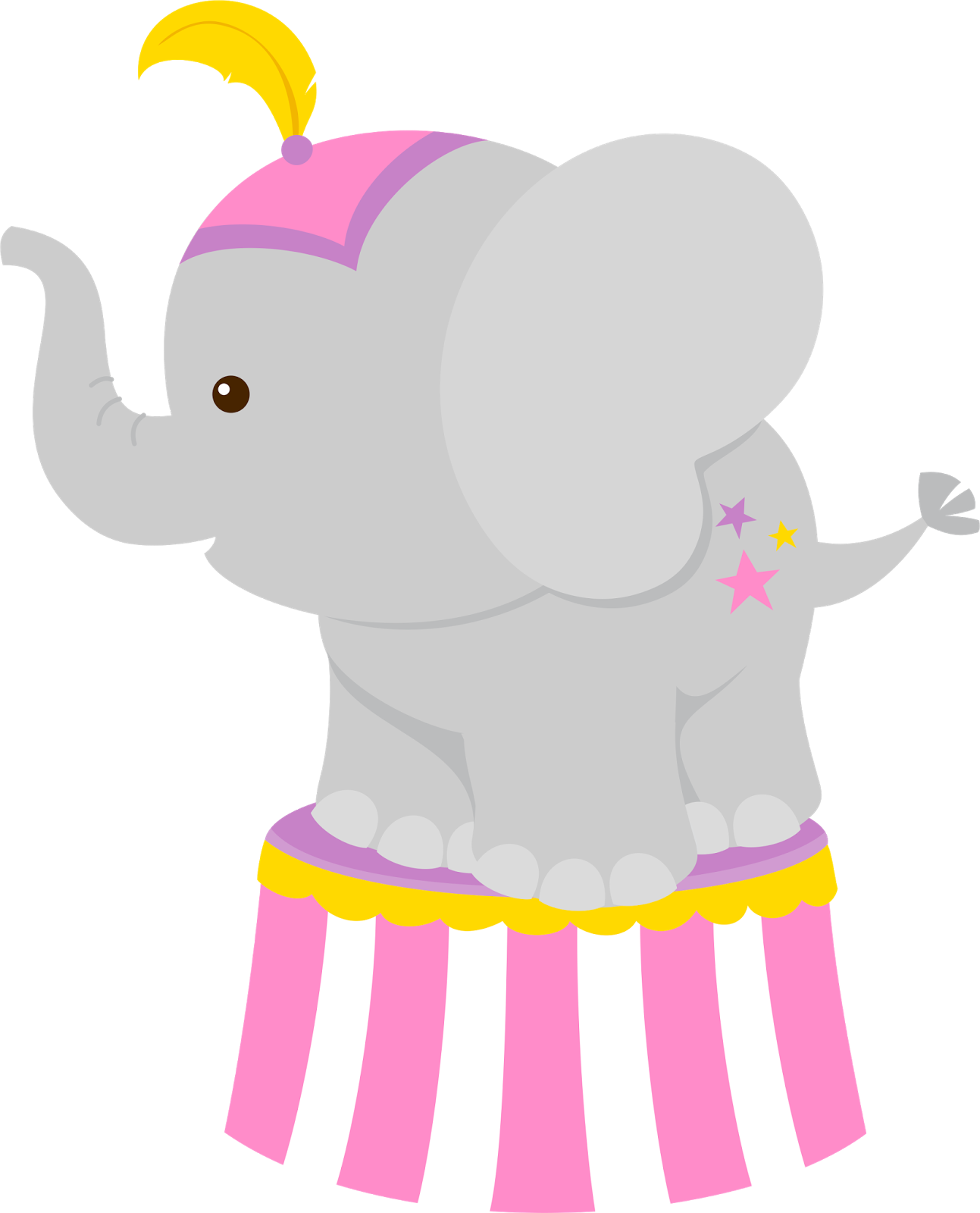 Clown girls png cumplea. Graduation clipart elephant