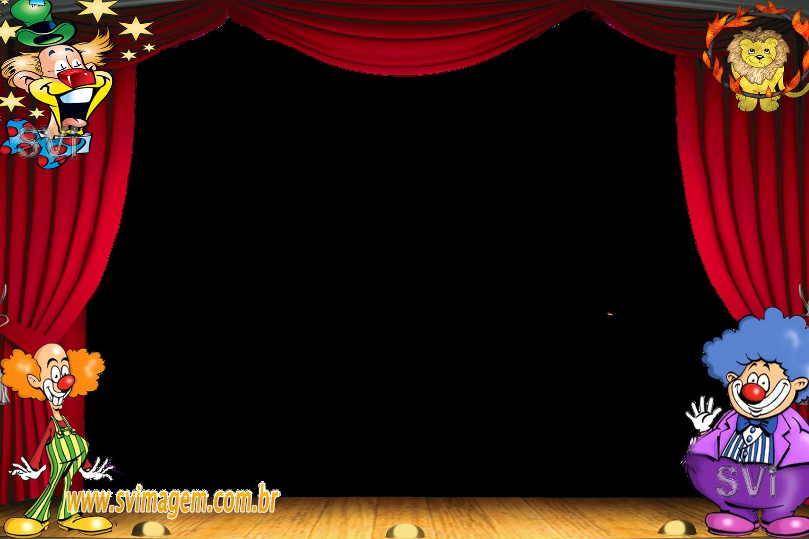 Curtains clipart circus. Marcos circo buscar con