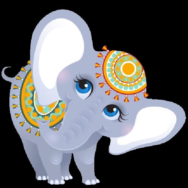 Funny female elephant elephants. Clipart car circus