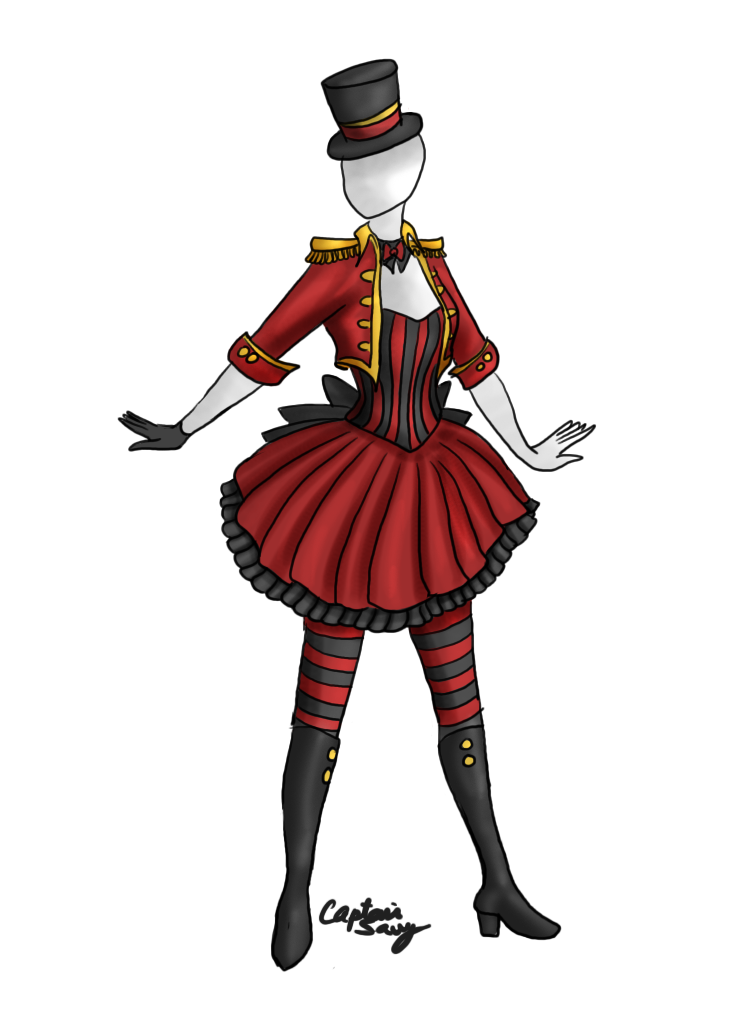 Circus stripes outfit adoptable. Costume clipart costume design