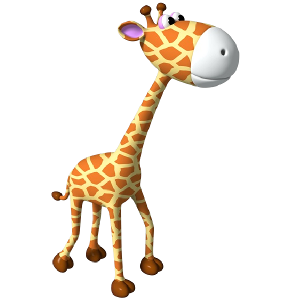 Simple outline cute applique. Clipart mom baby giraffe