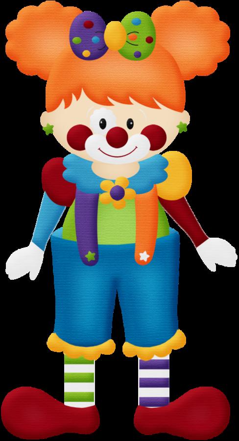 Circus clipart kid. Circo aw clown girl